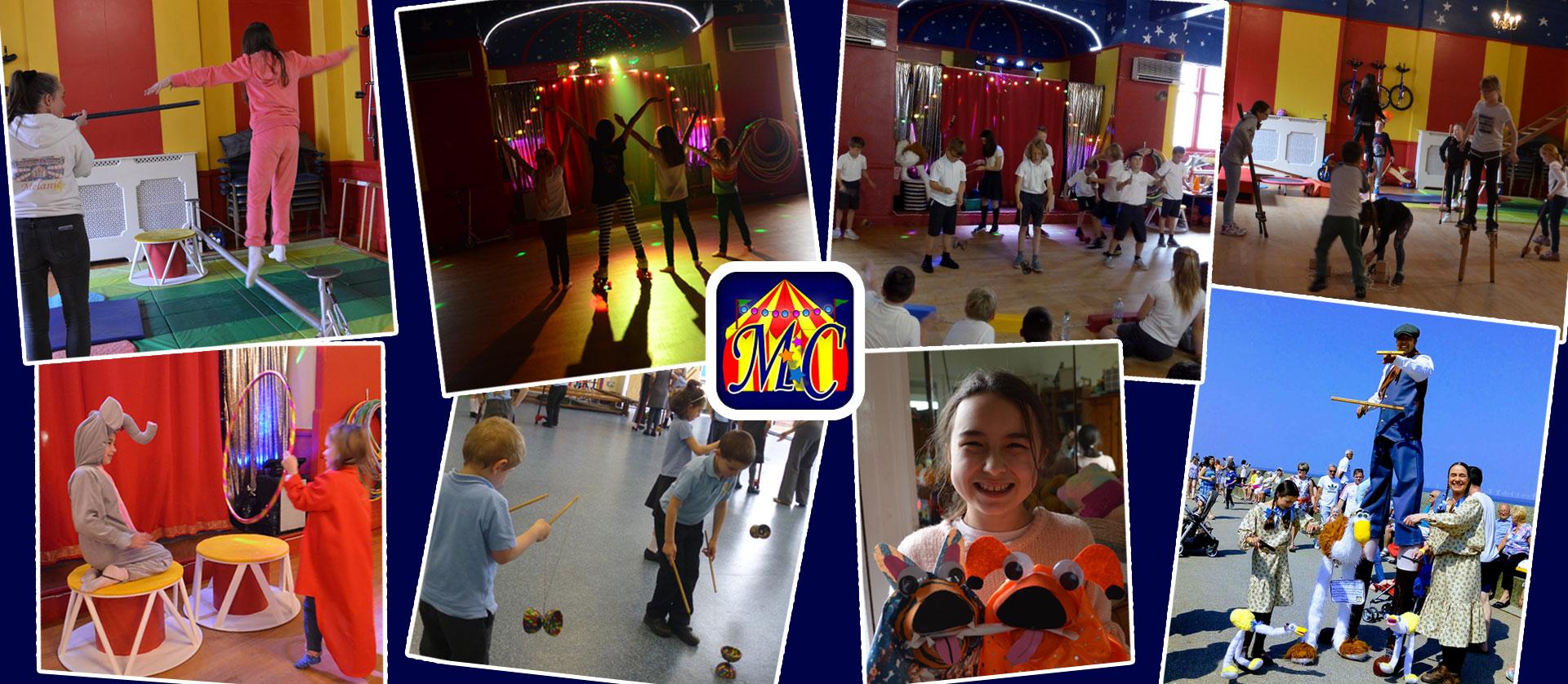 Circus skills workshops, children's birthday parties,team