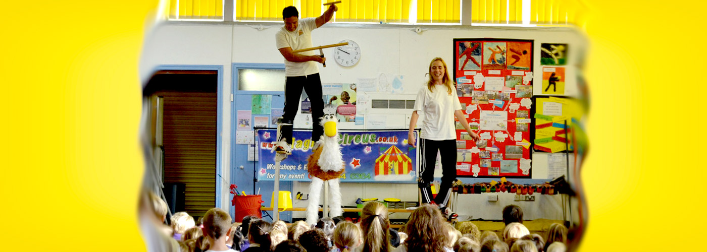 Circus skills show by Magical Circus.